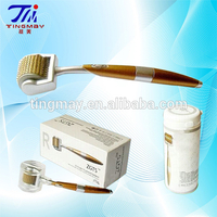 Fine titanium micro needle derma roller for skin care with low price TM-087