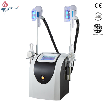 Multipolar rf cavitation slimming cool shaping machine / cryolipolysis machine 4 handles