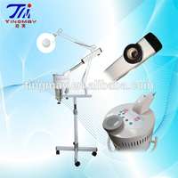 Best 2 in 1 portable facial steamer magnifying lamp ozone therapy equipment