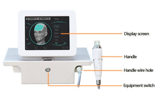 Newest fractional rf microneedle face skin care machine