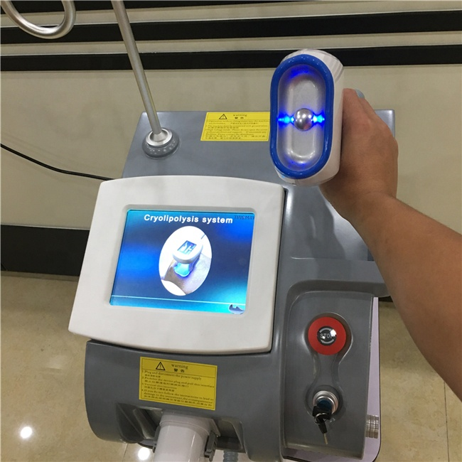 New item portable 2 handle cryolipolysis machine/fat freezing slimming machine combine double chin cryo