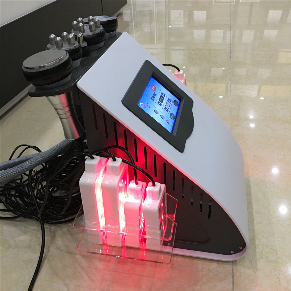 6 in 1 vacuum cavitation rf lipo laser machine portable