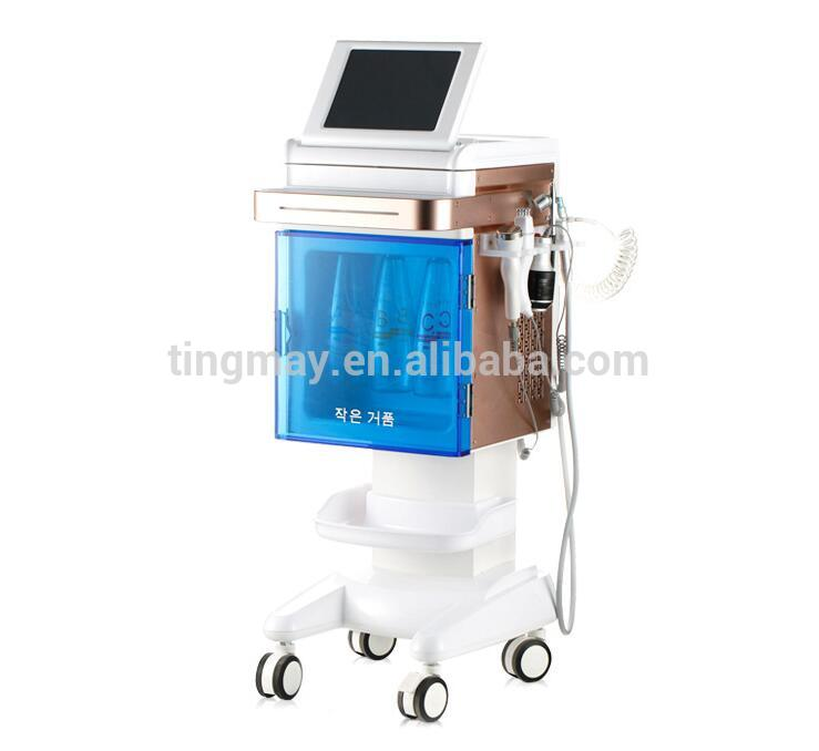 ultrasonic rf aqua water bubble face cleaning 5 in 1 hydrodermabraison machine