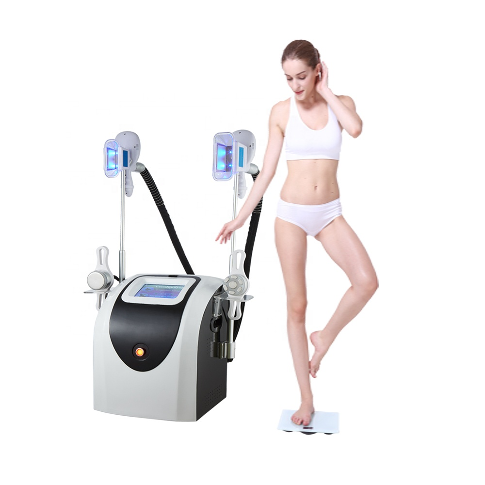 Popular 2cryo handles cryolipolysis fat freezing machine combine vacuum cavitation and RF