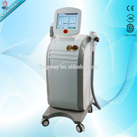 Multifunction machine 2 in1 nd yag laser shr opt elight hair removal machine