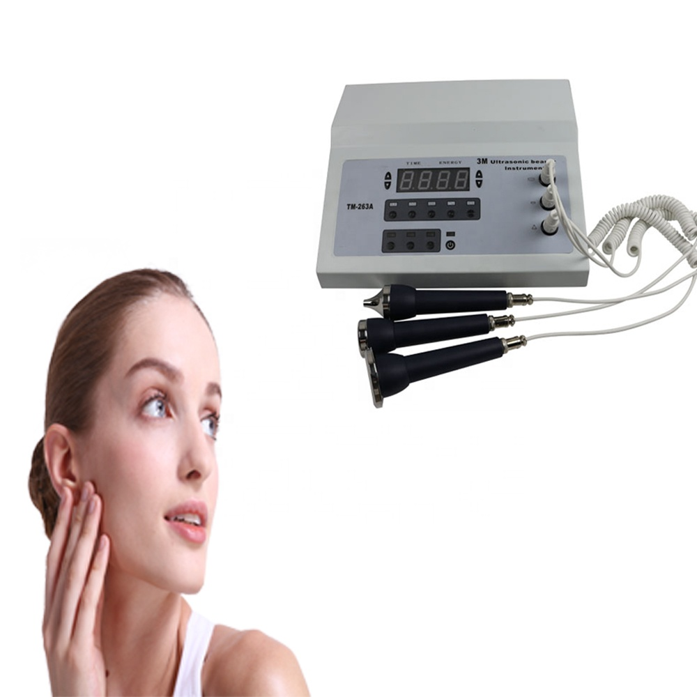 Portable eyes face and body newest 3Mhz ultrasonic skin massager machine