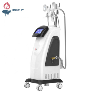 China manufacturer price 6 handles lipo laser cavitation RF fat freezing cryolipolysis machine