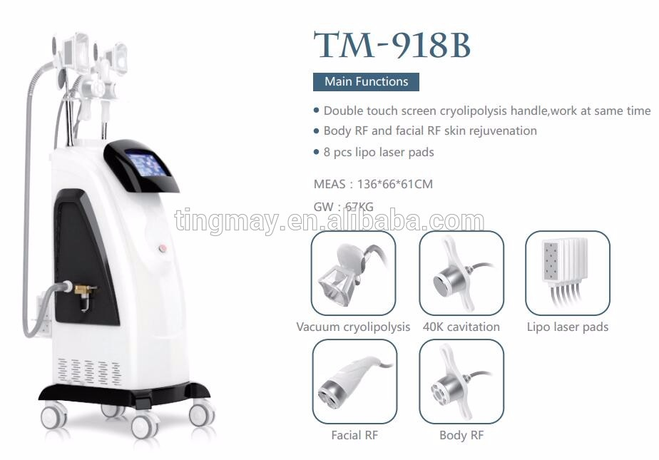 TM-918B Hottest rf cavitation lipo laser with user manual cryolipolysis
