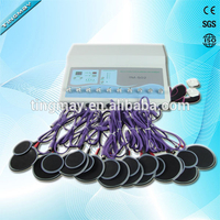 Electric muscle relaxer electrode electrostimulation