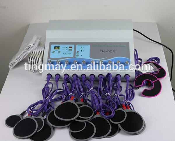 Electrostimulation equipment russian waves EMS fitness electric muscle stimulator machine with electrode pad