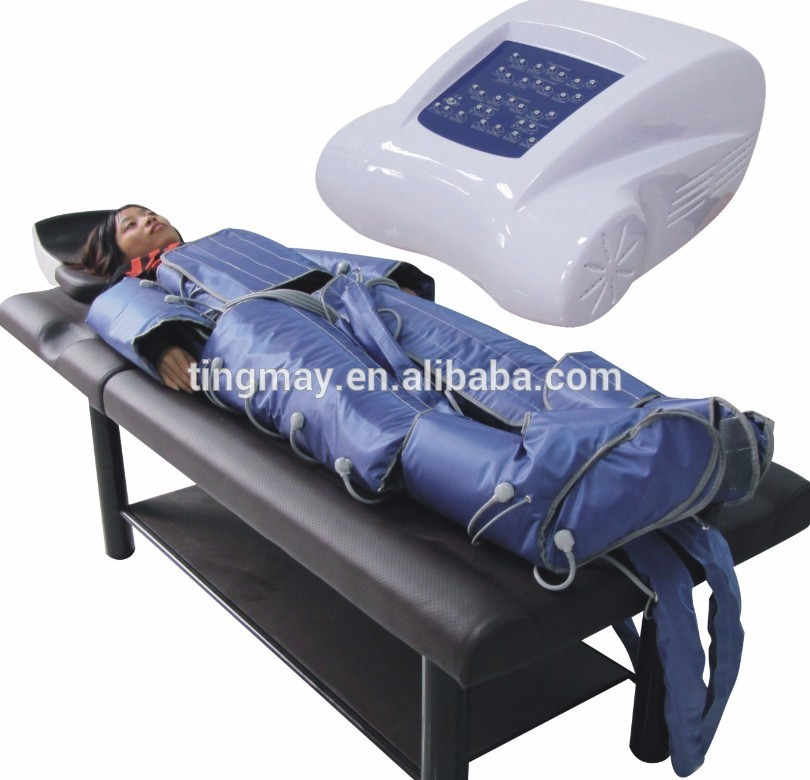 2019 hot selling presoterapia pressotherapy + Far Infrared Body Wrap + Electro Stimulation slimming machine factory price