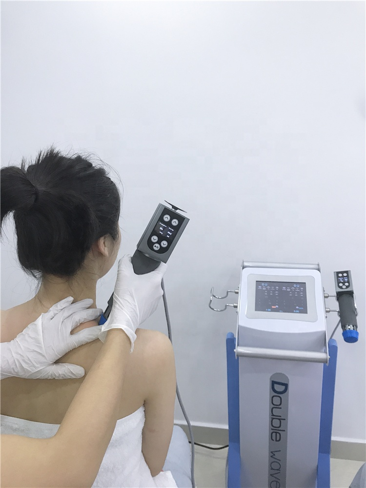 Double Handle Work Together Electromagnetic show wave therapy equipment