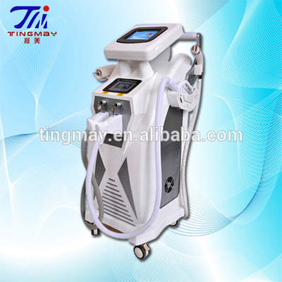 Beauty care face e-light ipl rf nd yag laser hair removal machine for wholesales