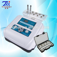 Portable diamond microdermabrasion with dermabrasion peel beauty device