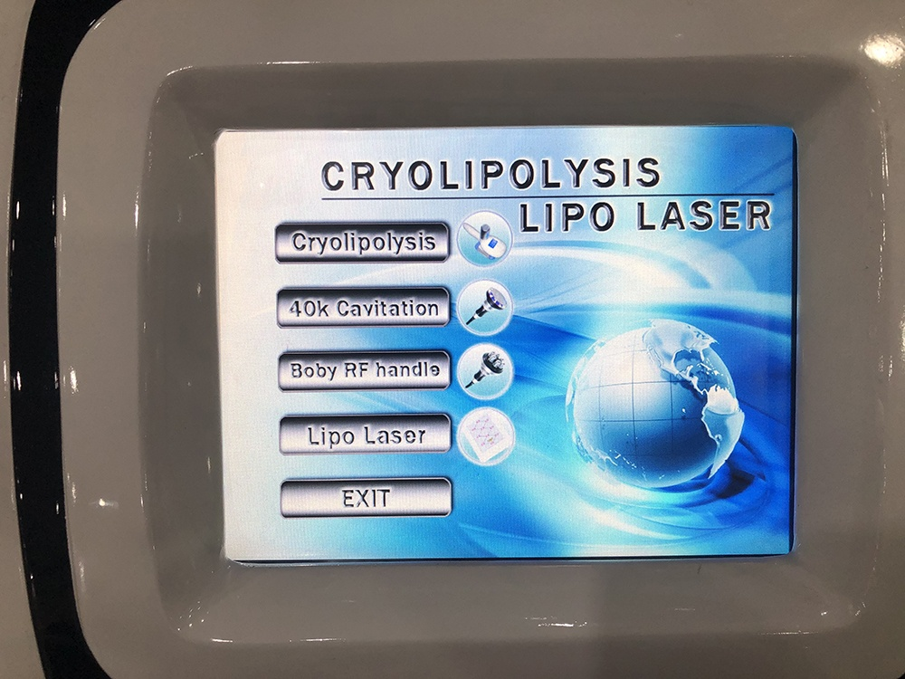 Portable criolipolisis fat freezing machine combine cavitation rf cryolipolysis lipo laser factory price