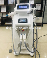 OPT IPL RF nd yag laser beauty machine for tattoo removal hair removal skin rejuvenation carbon peeling black doll