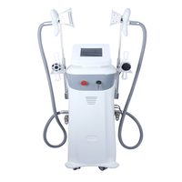 Double handles cryolipolysis machine combine cavitation rf device